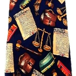 Alynn Neckwear Accessories - VINTAGE ALYNN SILK  LAWYER JUDGE SILK NECKTIE